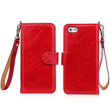 For apple iphone 5/5s wallet leather case OEM/ODM