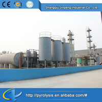 High Quality Factory Price Continuous used tire process to oil distillation equipment