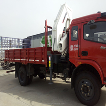 8 tons truck mounted crane with telescopic boom