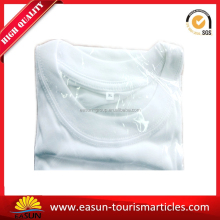 white cotton short sleeve T-shirt set for airline travel