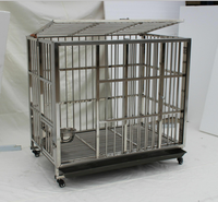 Pet shop custom plastic cage tray stainless steel dog kennels folding metal dog crate