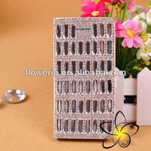 FL149 fashion colorful Luxury full diamond crystal leather case for iphone 5