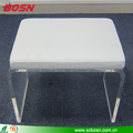 U Shape Clear Acrylic Sofa Chair home furnishings With Cushion