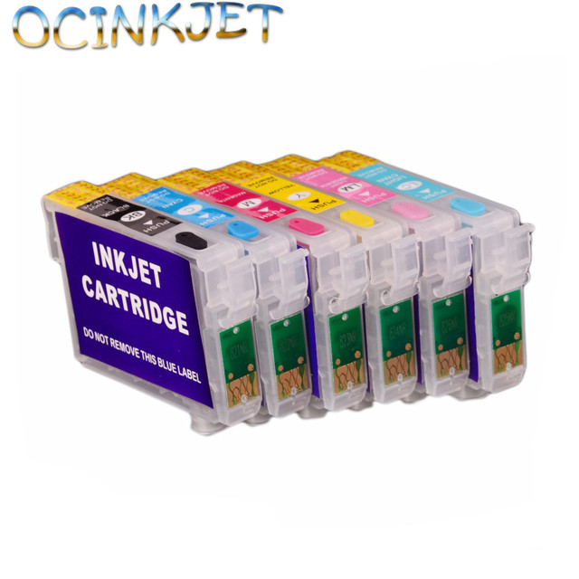 Ocinkjet Top Quality Level T0851N - T0856N Empty Refillable Ink Cartridge With Chip For Epson Stylus T60 1390 Printer