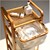 4-tiers bamboo bathroom laundry hamper bmaboo bathroom storage rack