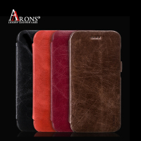 New style flip folio wallet case for iphone 6 plus leather case