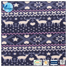 cheap Printed Knitting Coarse Needle Fleece Fabric made in Suzhou