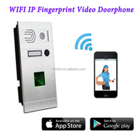 Home Door Control HD720P WiFi IP Fingerprint Video Door Phone With Fingerprint Access & Android/IOS App Remote Unlock