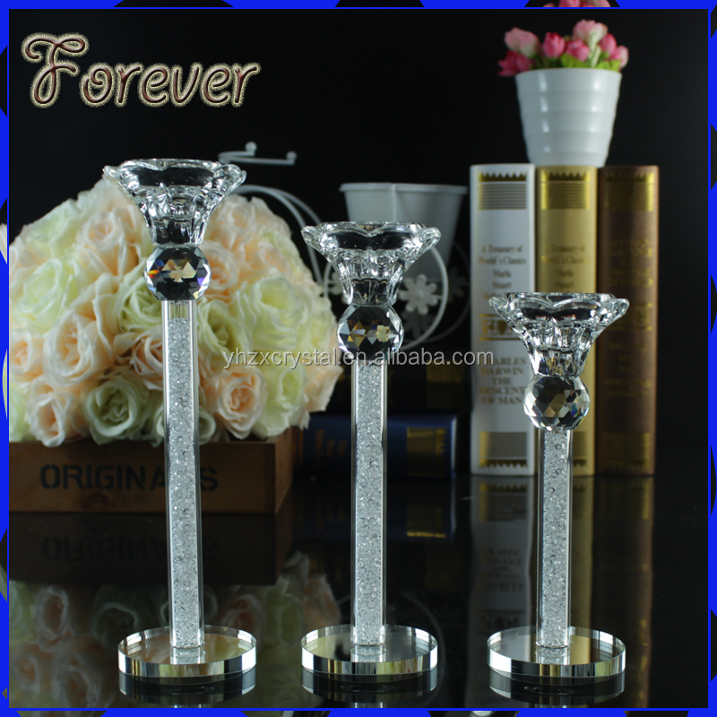 Crystal candle holder center piece decoration for table decoration