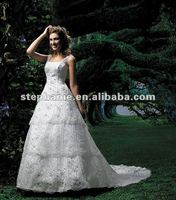 (F713) Guangzhou Stephanie Beach Wedding Gowns with Sleeves