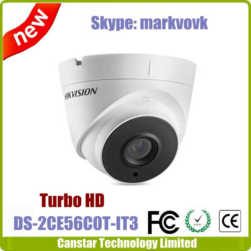 Up to 40m IR distance Hikvision TVI camera DS-2CE56C0T-IT3