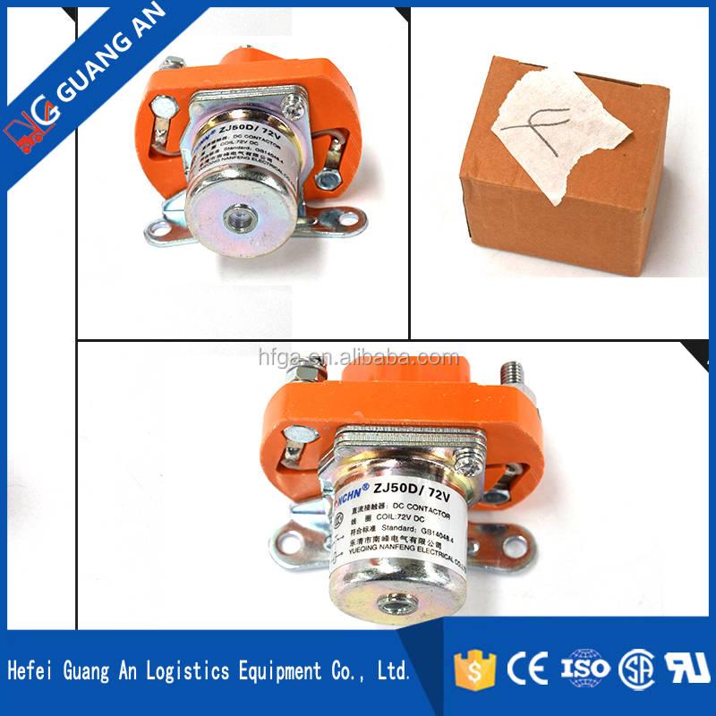 Guang An Code A.A.03.0572G1 72V 50A Chinese Manufacturing DC Contactor ls contactor ZJ50D