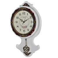 High Glass Wooden Decorative Pendulum Wall Clock
