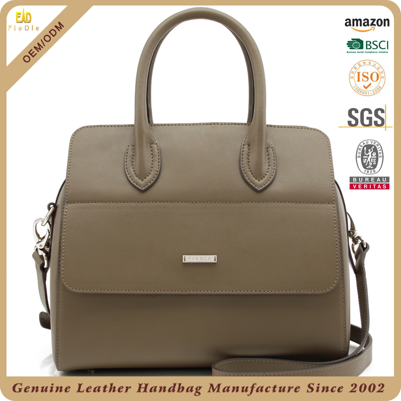 light grey two cc handles single shoulder leather tote handbags bag