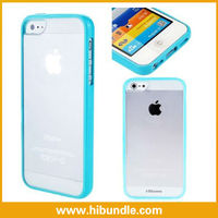 Newest Transparent bumper For iphone5 wholesale hard plastic bumper