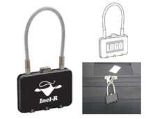Rectangle Metal Coded Lock for Briefcase with Custom Logo for Promotional Gift Use Giveaways Gadgets for Events