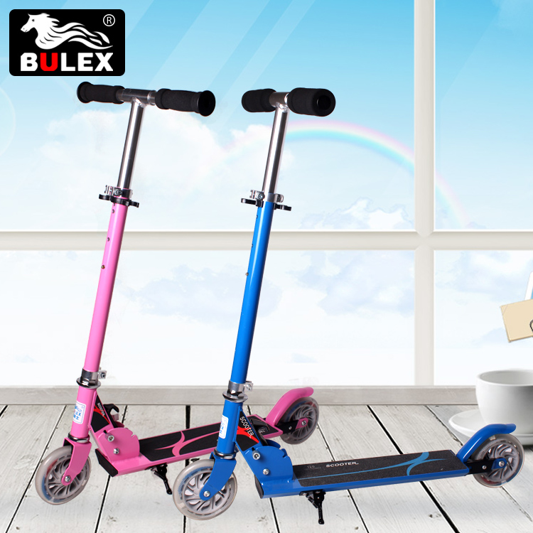 2017 china wholesale 100% Aluminum 2 wheel folding kick scooter for kids