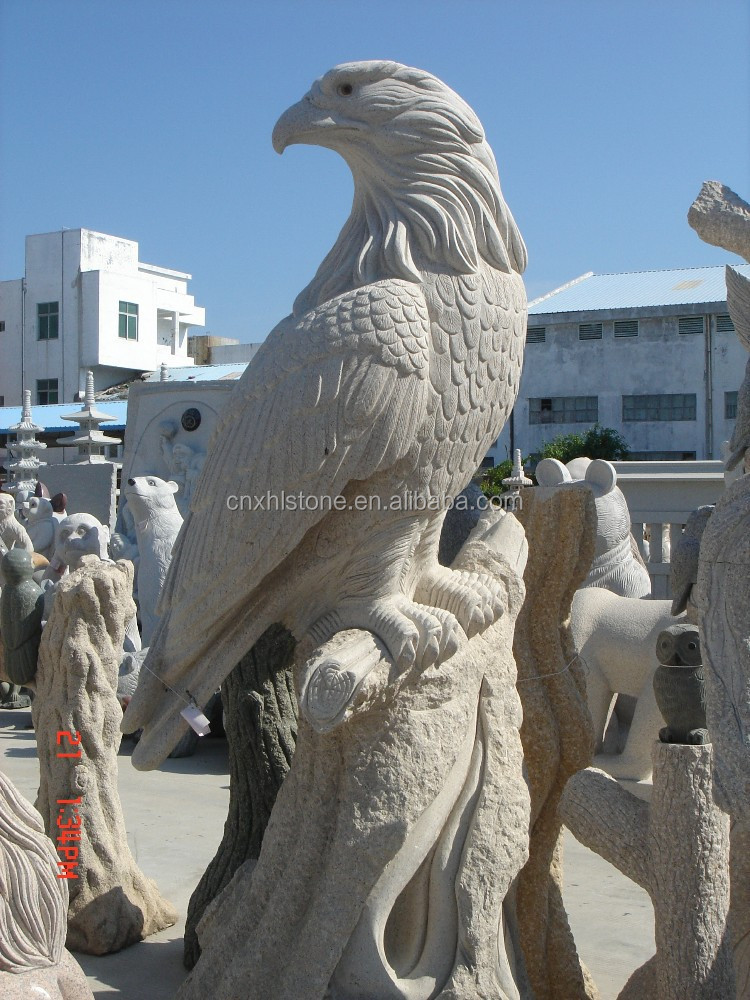 Chinese grey Granite stone eagle statue/Carvings/sculpture for sale