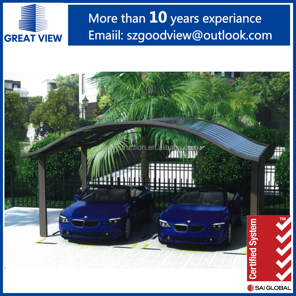 European Double Car Shelter Canopies, 2 car parking sheds