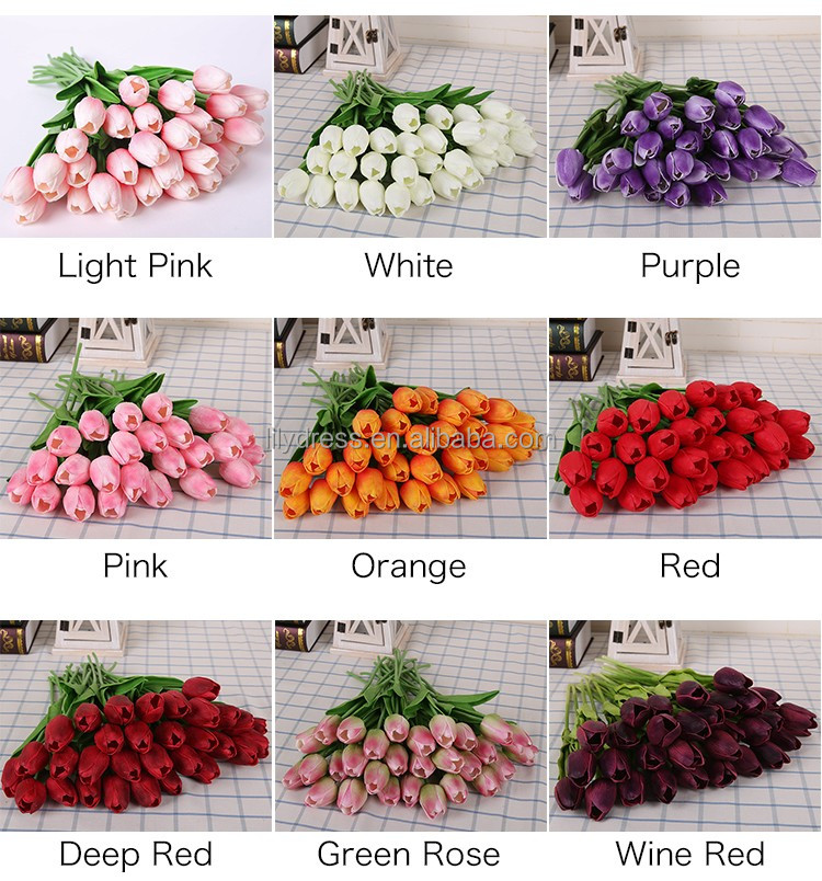 FO002 Tulip Artificial <strong>Flower</strong> PU artificial bouquet Real touch <strong>flowers</strong> For Home Wedding decorative <strong>flowers</strong> & wreaths