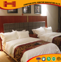 chinese professional custom solid wood double bed design hotel furniture