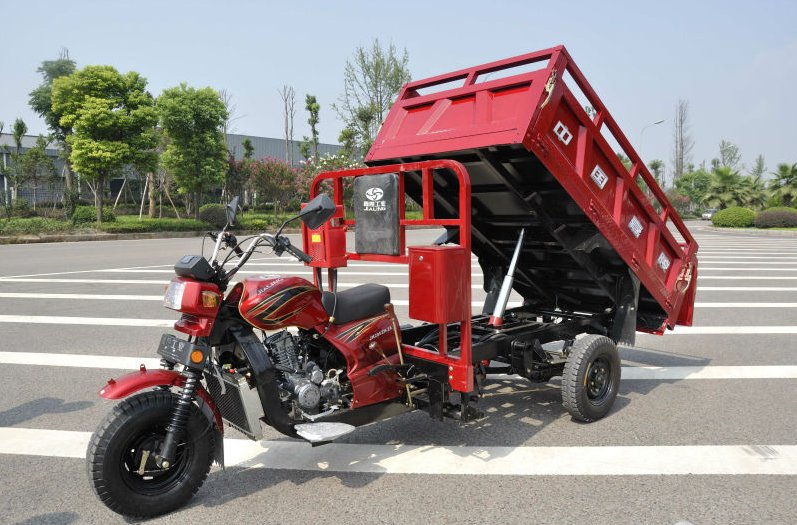 250cc heavy duty three wheel motorcycle cargo tricycle with hydraulic lifter