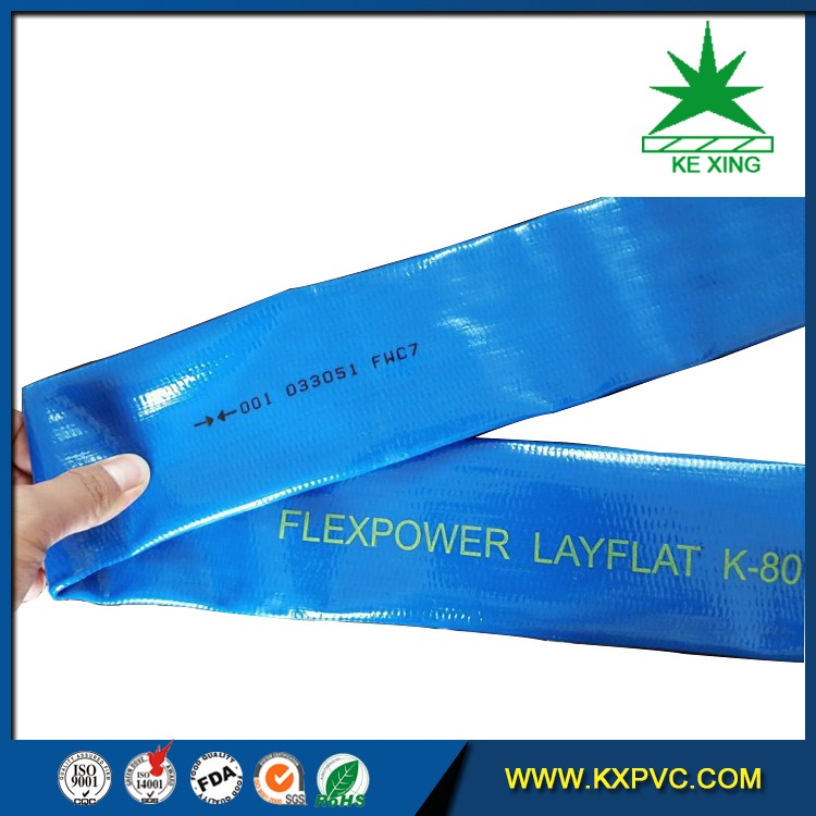 professional agricultural use irrigation pvc tube irrigation layflat hose
