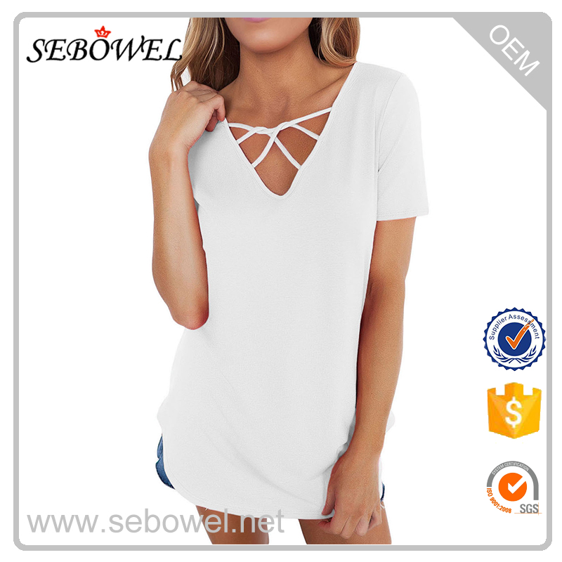 Soft Cage Front Loose Tops Ladies