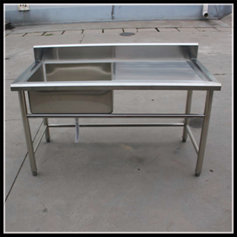 China Supplier Restaurant Equipment Kitchen Stainless Steel Sink Work Table Sink