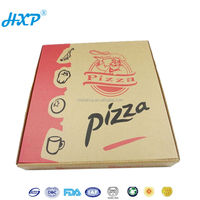 Cardboard box 2C 3-Layer B-Flute Flexo motorcycle pizza delivery box