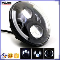 "Ultra bright Waterproof Round 7"" HID LED Projector Head light for Motorcycle Harley Davidson"