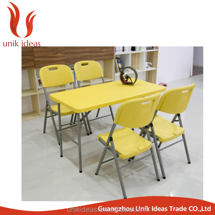 wholesale cheap plastic wedding outdoor garden folding plastic chair and table