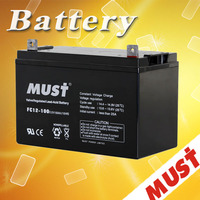 MUST High quality agm battery 12v 100ah for solar system