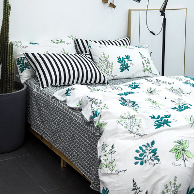 single/double/full/(Super) king/queen size bed sheet printing bedding set /bed sheet/comforter cover/pillow