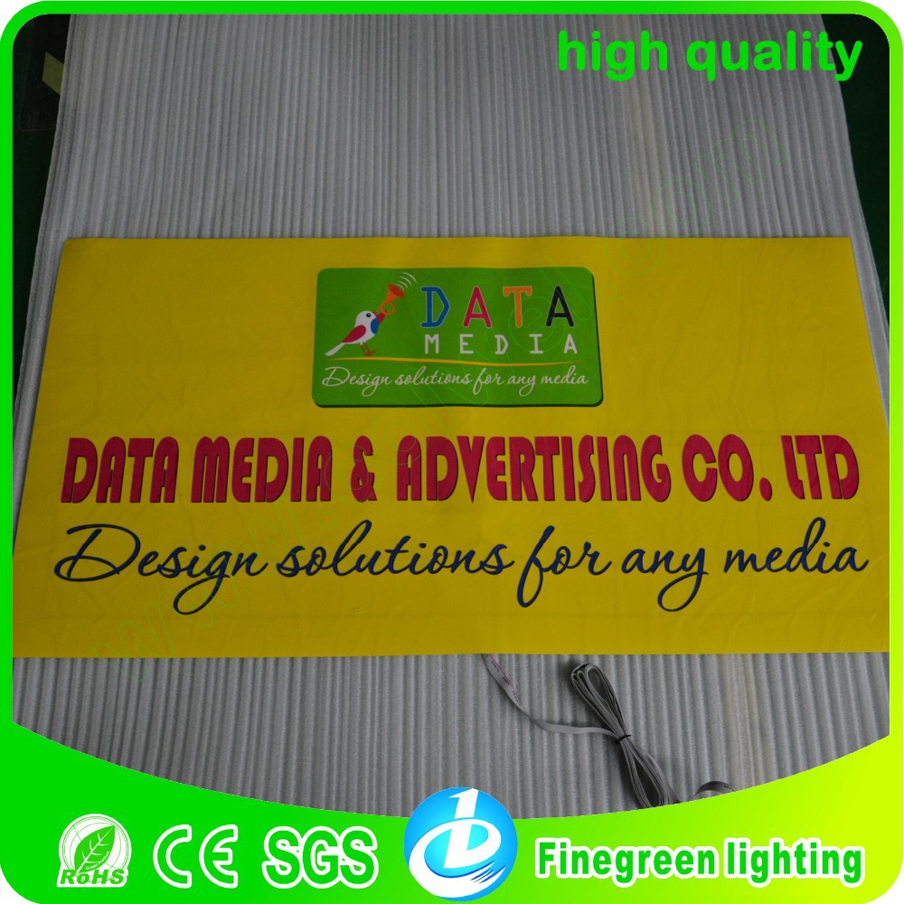 company customised el poster logo,100*50cm new making el technology high brightness