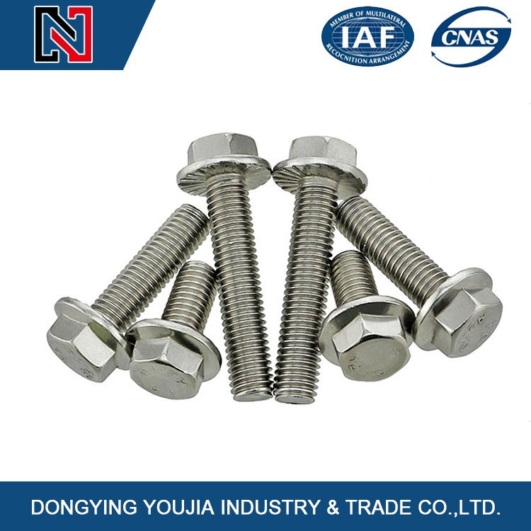 hot sales alloy hexagon head flange bolt