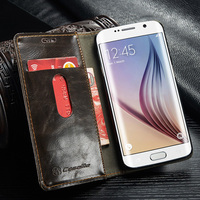 CaseMe PU Leather Mobile Phone Case For Samsung Galaxy S6