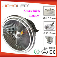 Hot Factory design AR111-2X6W G53 AR111 high power led 12v