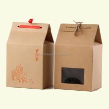 Different Styles Kraft Paper Tea Box With Custom Logo