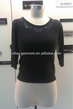 black long sleeve 2013 new design fashion garment lady sweater