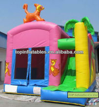 New design Tiger inflatable combo, inflatable jumping house with slide