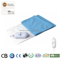 Fast Heating 100W 40X30CM CE Polyester Cover PVC Back Pain Electric Body Heating Pad