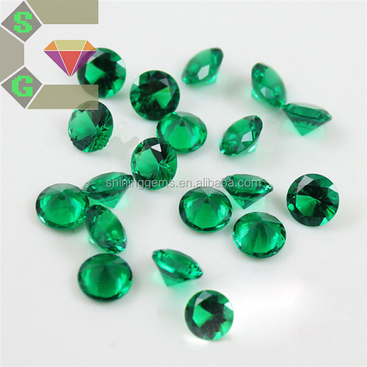1.75mm fashion round saturated nano emerald green gems for jewelry wax setting