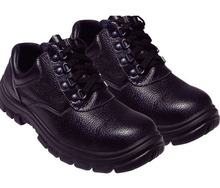 SJ9226 low cut safety shoes PPE workplace protective footwear, split leather upper, injection construction, wearable pu outsole