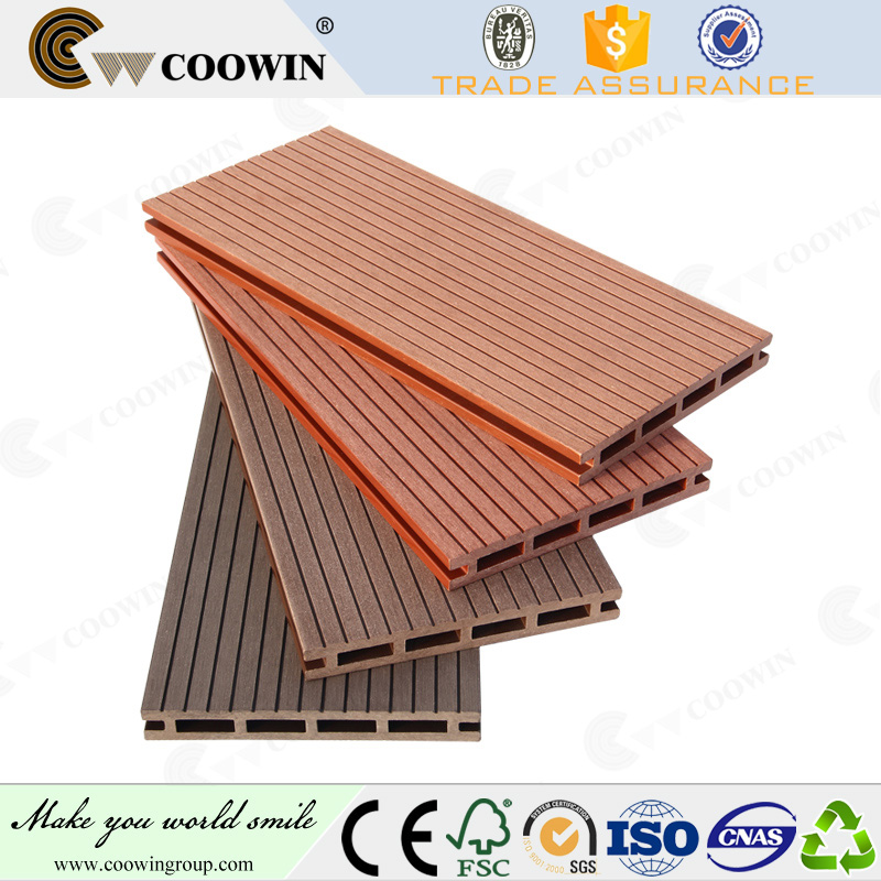 Outdoor WPC wood plastic 150x20mm composite decking