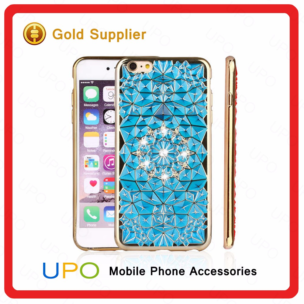 [UPO] Wholesales Shockproof Bling Diamond Electroplating tpu Phone Case for iPhone 7