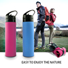 2016 hot new creative new colors infuser water bottle plastic squeezable foldable silcione bottle