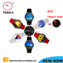 2017 DM368 smart 3G android mobile watch phone smartwatch GPS wristwatch with heart rate
