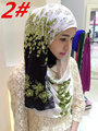 NL181 new style lace muslim long scarf