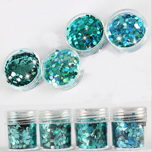 Bulk green diamond series glitter powder for nail crafts hair art high quality
